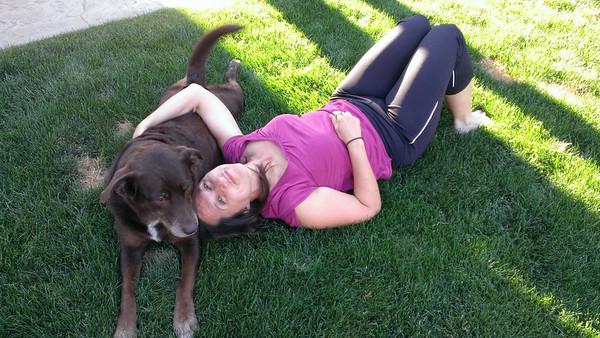 Jayne and Sasha enjoying the warm weather together...