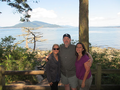 Visiting Anacortes - one of the San Juan Islands - looking into the strait.