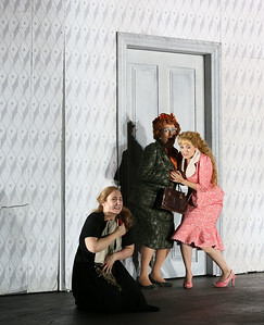 ENO Jenufa Laura Wilde, Natalie Herman and Soraya Mafi (c) Donald Cooper