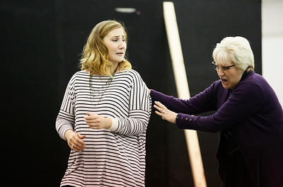 ENO Jenufa Rehearsal Laura Wilde and Valerie Reid (c) Donald Cooper