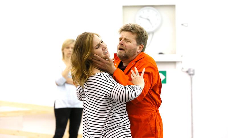 ENO Jenufa Rehearsal Laura Wilde and Peter Hoare 1 (c) Donald Cooper