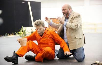 ENO Jenufa Rehearsal Peter Hoare and Graeme Danby (c) Donald Cooper