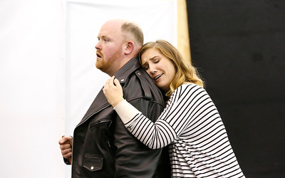 ENO Jenufa Rehearsal Nicky Spence and Laura Wilde (c) Donald Cooper
