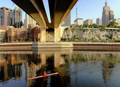 Rowing under Wabasha Bridge8.31.2009