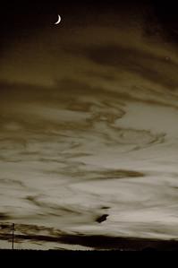 Moon & Venus sunsetTaos, NM9.11.2010