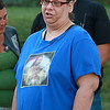 A rally for Jeremiah Oliver and  child abuse was held at Riverside Park on Friday night, August 11, 2017 in Fitchburg. During the rally Rose Valcourt, Jeremiah's aunt, got a little emotional as she talk about Jeremiah. SENTINEL & ENTERPRISE/JOHN LOVE