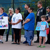 A rally for Jeremiah Oliver and  child abuse was held at Riverside Park on Friday night, August 11, 2017 in Fitchburg. SENTINEL & ENTERPRISE/JOHN LOVE