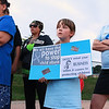 A rally for Jeremiah Oliver and  child abuse was held at Riverside Park on Friday night, August 11, 2017 in Fitchburg. Alyssa White, 8, from Greenville N.H. holds a child abuse sign during the rally.  SENTINEL & ENTERPRISE/JOHN LOVE