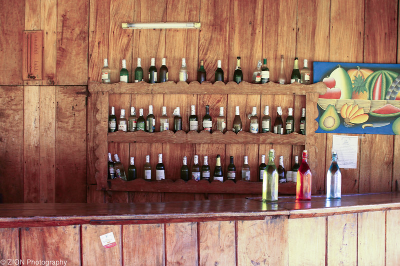 A unique outside bar area in Haiti