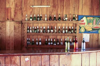 A unique outside bar area in Haiti