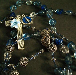 jeremy in blueberry quartz rosary