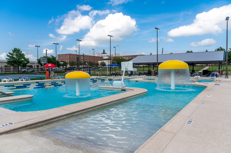 M21086- Campus Rec Pool, Lifeguards playing-1027