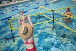 M21086- Campus Rec Pool, Lifeguards playing-1196