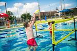 M21086- Campus Rec Pool, Lifeguards playing-1142