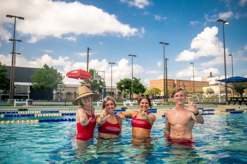 M21086- Campus Rec Pool, Lifeguards playing-1268