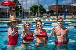M21086- Campus Rec Pool, Lifeguards playing-1278