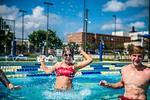 M21086- Campus Rec Pool, Lifeguards playing-1251