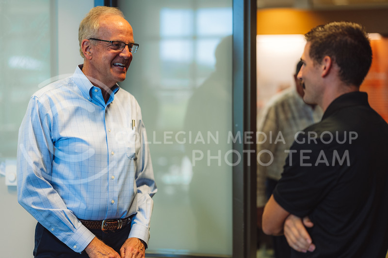 Kansas Senator, Jerry Moran, visited the Kansas Wheat Innovation Center and the Hal Ross Flour Mill at Kansas State University Grain Science Center as part of the Kansas Wheat Tour on September 16, 2021. (Dylan Connell   Collegian Media Group)