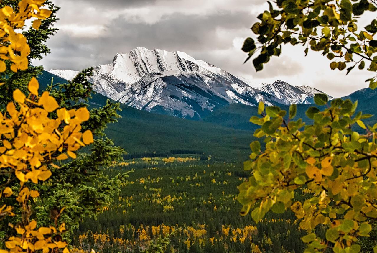View from Delta Lodge at Kananaskis, Alberta-Canadian Rockies