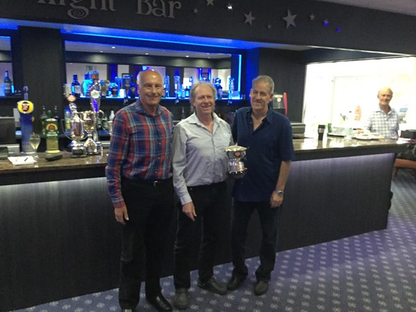2017 Festival - Senior Pairs winners: Chris Taylor & David Wing (with Norman Le Cocq CICBA Chairman)