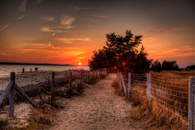 Sandy Hook National Park at sunset