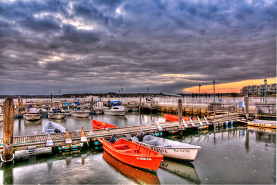 Belmar Marina Print photo