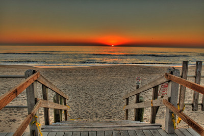 Beach Entrance Spring Lake nj Photo