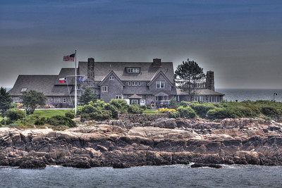 President George H. W. Bush spent much of his childhood at the Kennebunkport estate Summer home Maine photo 2011