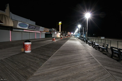 Seaside Hts at Night  Dec 2011