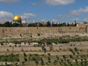Dome of the Rock and the Muslim cemetery viewed from the Mount of Olives.
