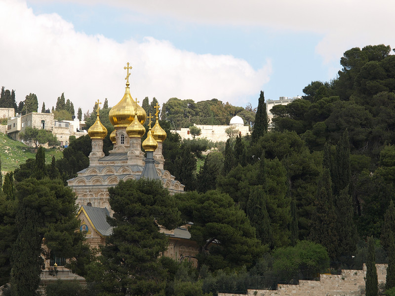 Russian Orthodox Church of Mary Magdalene, on the slopes of the Mount of Olives.