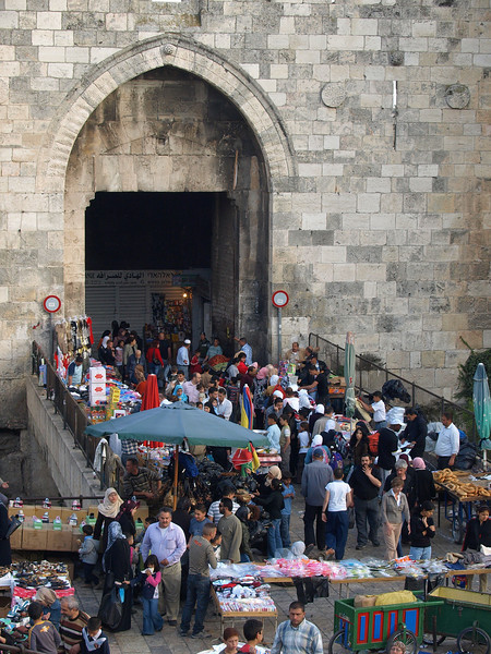 Damascus Gate; main entrance to the Muslim Quarter of the Old City