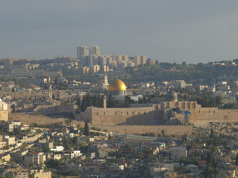 Old City; Dome of the Rock at sunrise