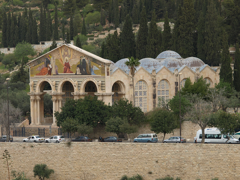 Church of All Nations.  Officially known as the Basilica of the Agony, the church is located on the Mount of Olives near Gethsemane, where Christ is said to have prayed before his arrest. It is popularly known as the Church of All Nations since 12 countries contributed to fund its construction.