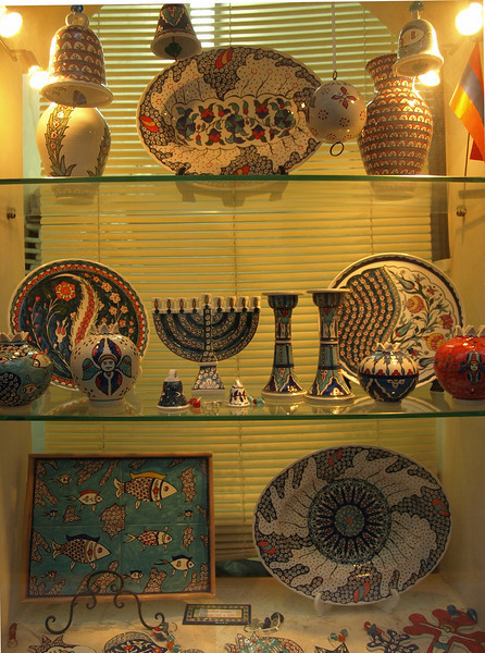 Shop display in the Armenian Quarter