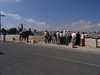 Tourists at the Mount of Olives viewing point.  (In all my time here, I've only seen one person actually ride the camel.)