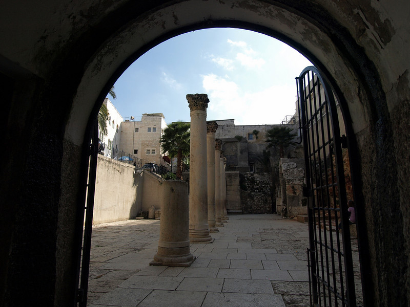 A section of the Cardo, Jerusalem's main colonnaded street during Roman times