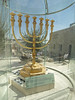 Replica of the golden menorah which stood in the second Temple until its destruction by the Romans