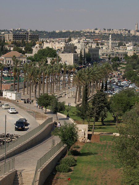 Approaching the Muslim Quarter and the Damascus gate section of the walls