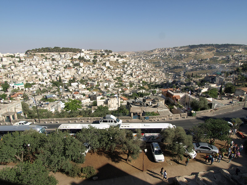 The Arab village of Silwan, just opposite the Jewish Quarter of the Old City