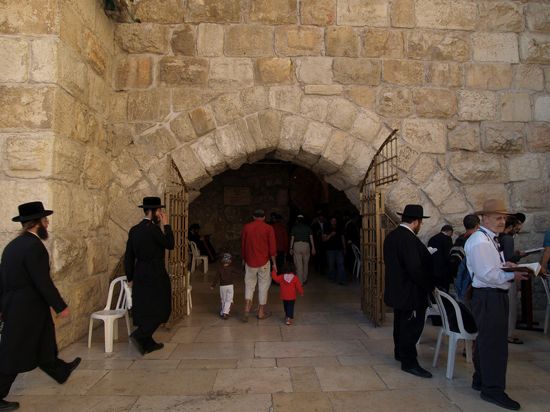 Orthodox Jews at Western Wall plaza