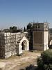 An Armenian convent undergoing restoration
