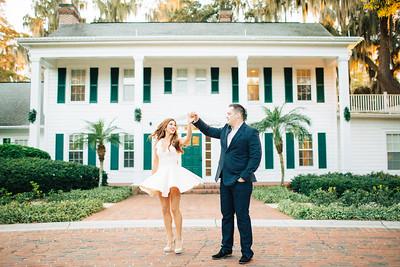 Jess + Travis | Cypress Grove Estate House | Orlando Engagement