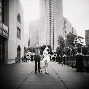 Jess and Billy Engagement - Black and White