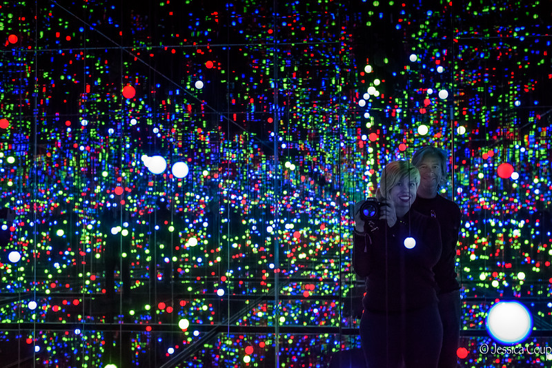 Selfie in the Yayoi Kusama Installation at the Louisiana Museum of Modern Art