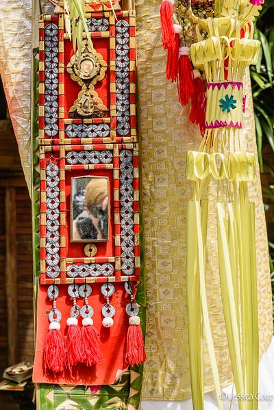 Selfie in the Galungan Decorations