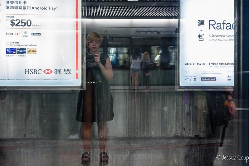 Hong Kong MTR Selfie