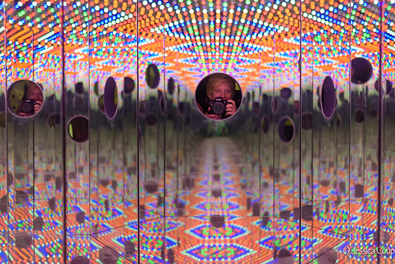 Selfie Inside the Yayoi Kusama Exhibition