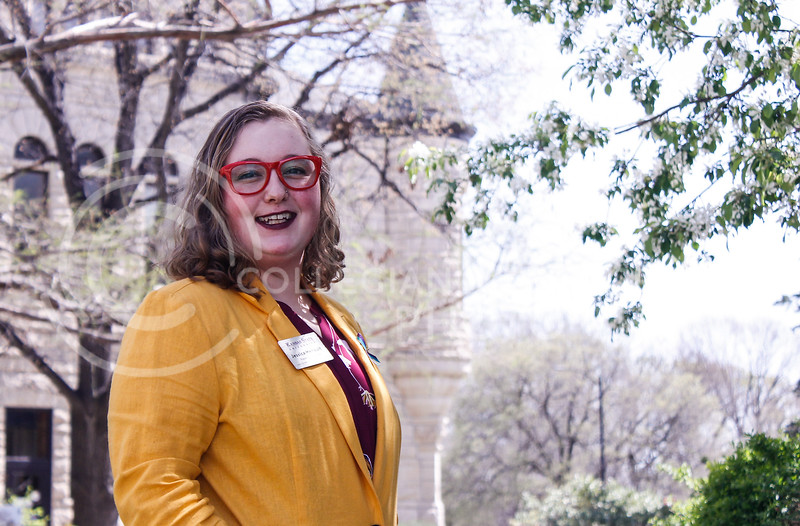 Jessica Henault is the sexual and relationship violence prevention specialist for the CARE Office located in Holton Hall. At the University of Kansas, several people do the job she does alone. (Kaylie McLaughlin | Collegian Media Group)