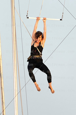 Jessica Stroup during the set of 90210.